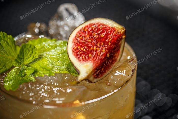 Cocktail mit Feige