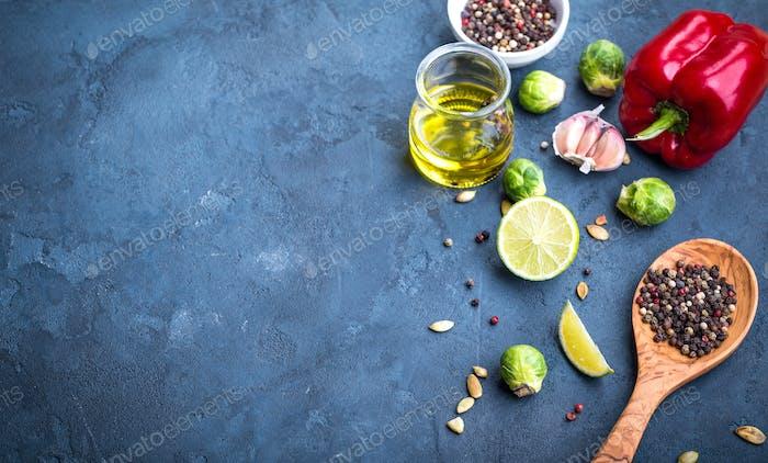 Kochzutaten Hintergrund