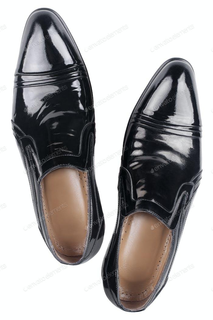 Elegant shiny black shoes