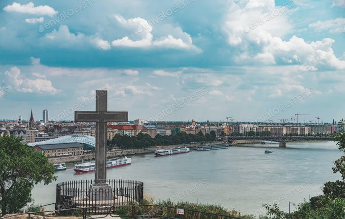 Panorama view on the Budapest, Hungary