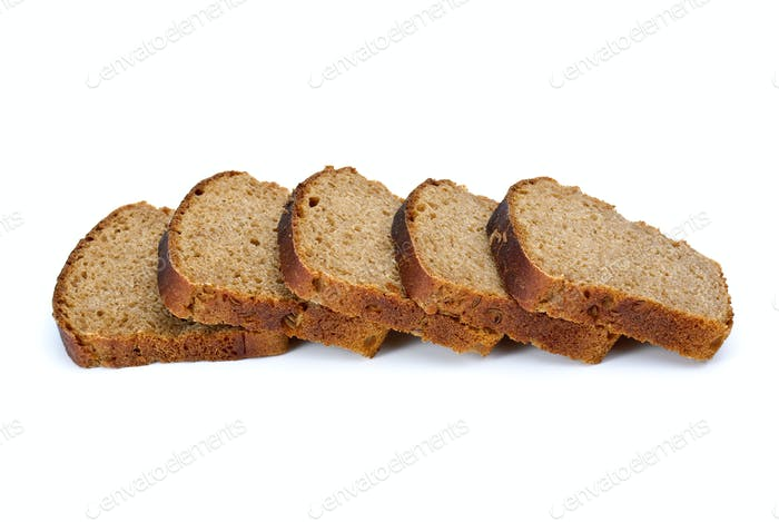 Some slices of rye bread with anise