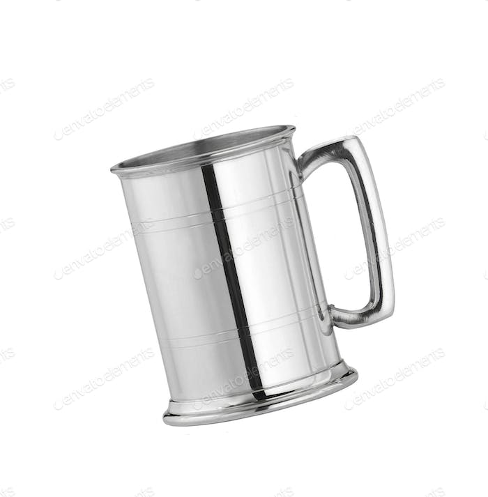 Metal can isolated on white