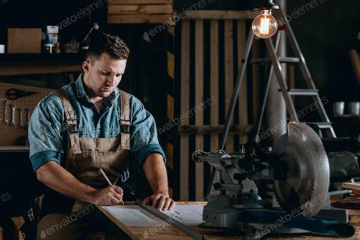 Handyman working long hours