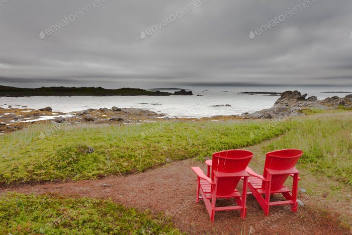 Relaxing great coastal landscape scenery NL Canada