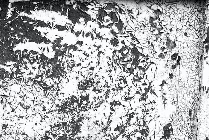 Weathered paint contrast black and white texture