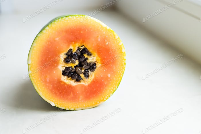 slices of sweet papaya