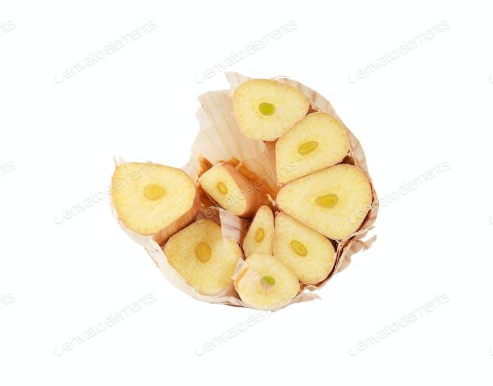 half of garlic bulb