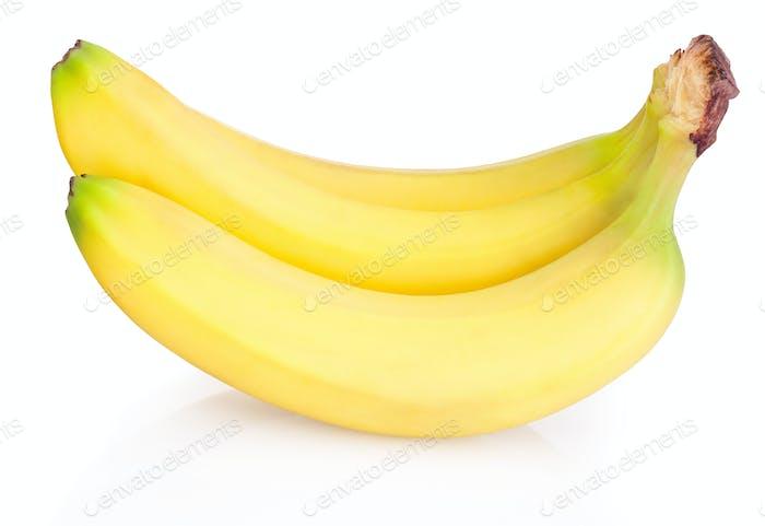 Bündel von Bananen auf weißem Hintergrund isoliert