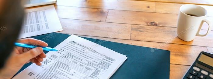 Relleno del contribuyente en la declaración del impuesto sobre la renta individual