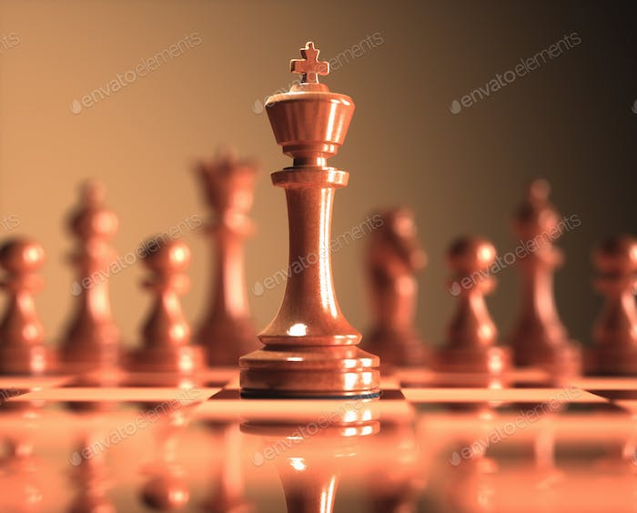 King Chess Game Board