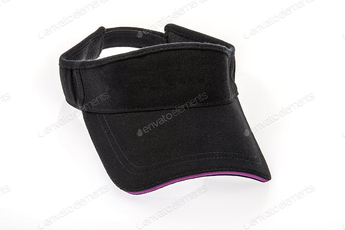 Golf Visor With Purple Colour Trim