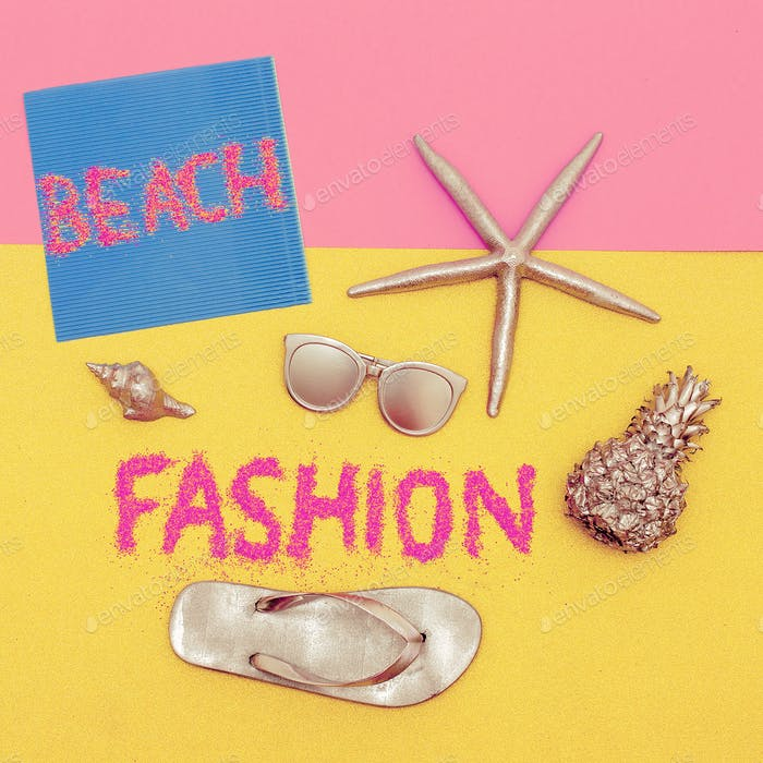 Beach Trend Set Minimal Design Fashion