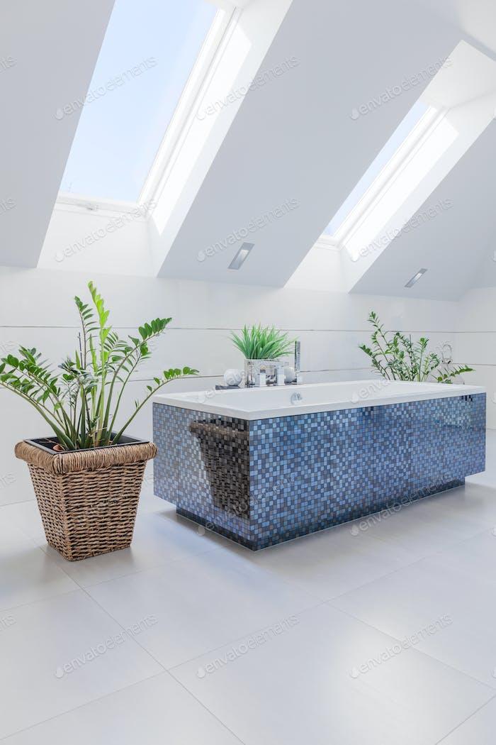 Bathtub in modern design
