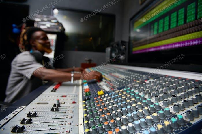 Soundboard in recording studio