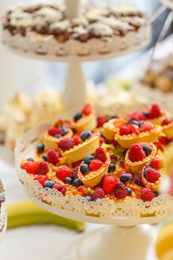 Delicious pastry cakes