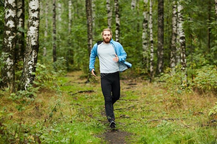 Running on summer morning