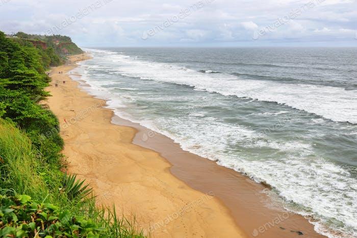 Varkala tropical beach Kerala, India