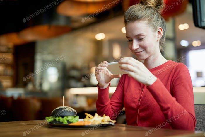 Millennial in cafe