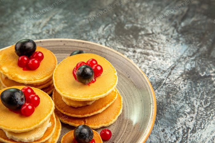 Mouth-watering delicious pancakes stock image