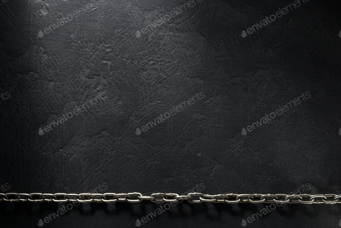 cadena de Metal en negro