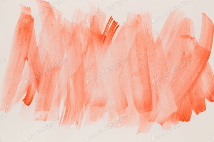 Abstract pink watercolor on white background.The color splashing in the paper.It is a hand drawn.
