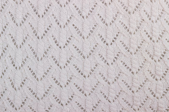 Texture of knitted woolen fabric