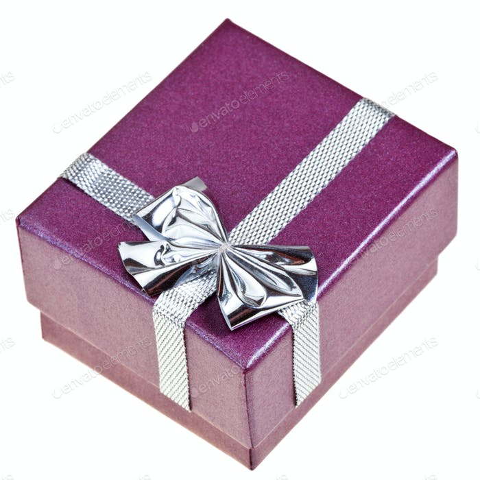 small purple gift box