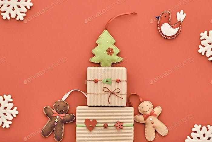 weihnachten hintergrund dekoration Handgefertigtes Design  .