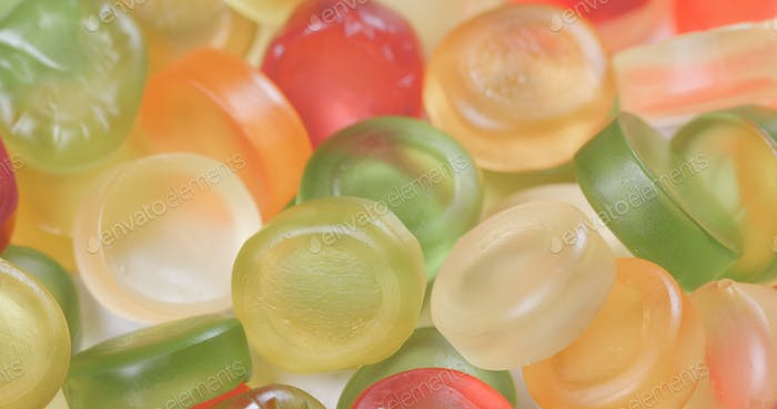 colorful candy gummy