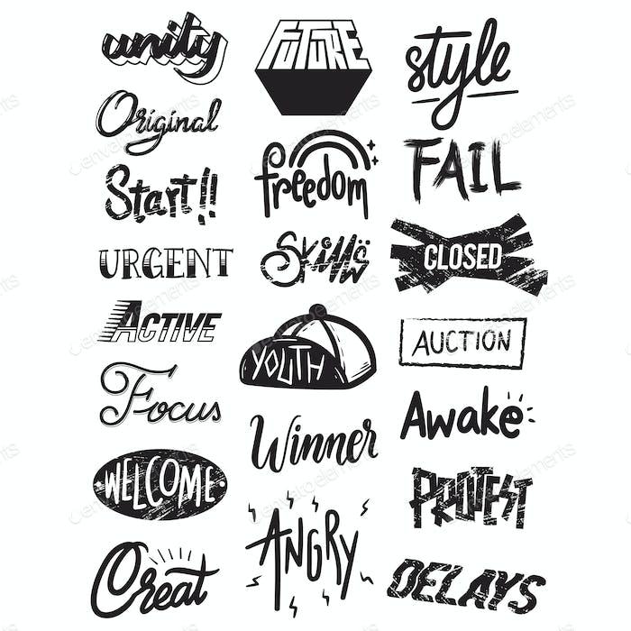 Artwork Typographic Illustration Style Concept