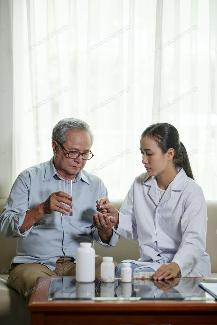 Patient taking the medicine