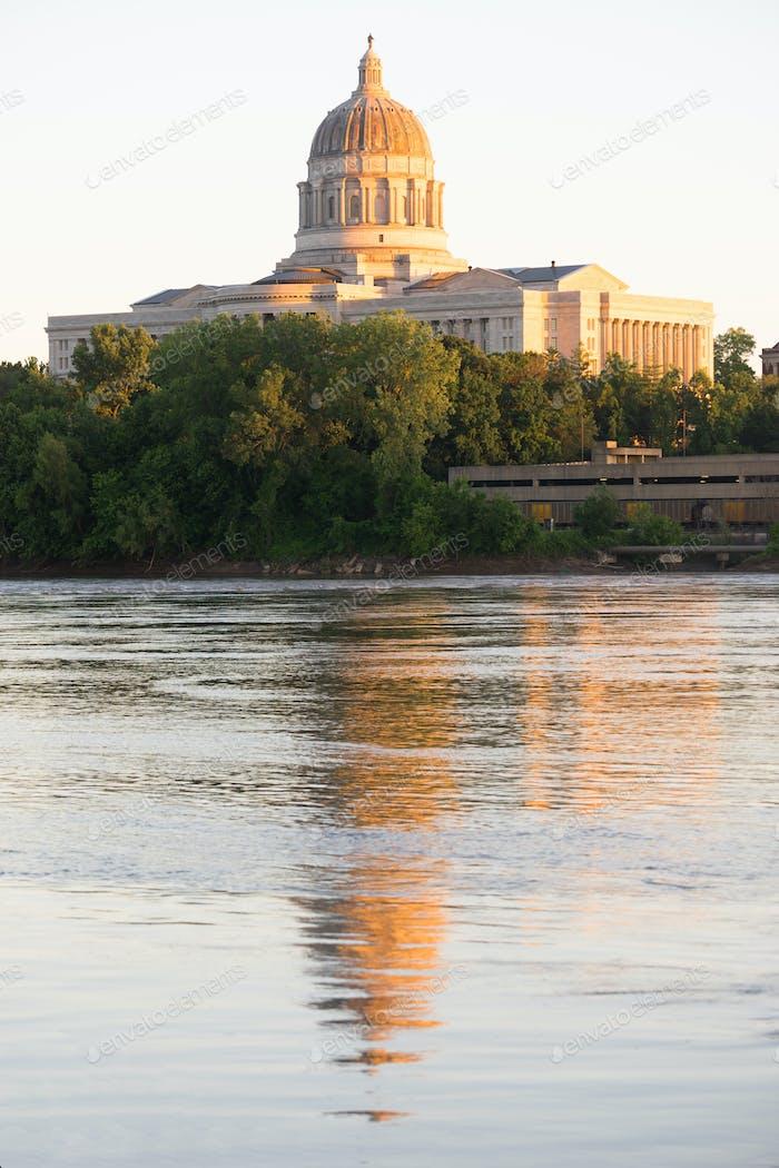 Jefferson City Missouri Hauptgebäude Downtown Sunset Architektur