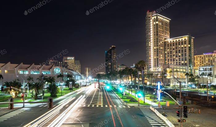Harbor Drive San Diego California Port Downtown City Skyline