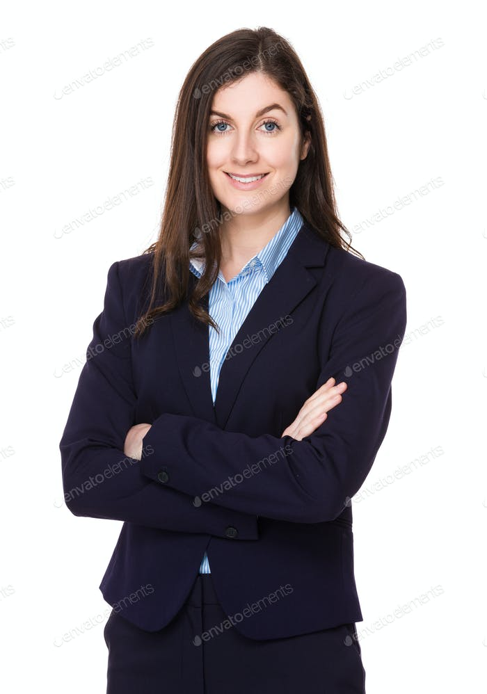 Brunette businesswoman
