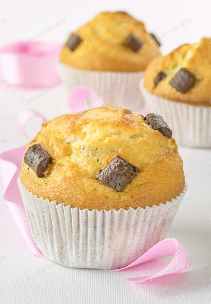 Muffins with Pink Decorations