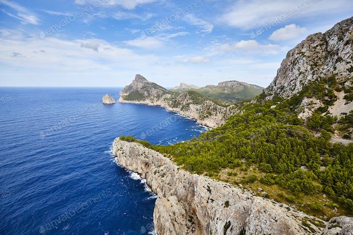 General view of Cap de Formentor, Mallorca.