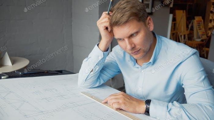 Thinking architect at work