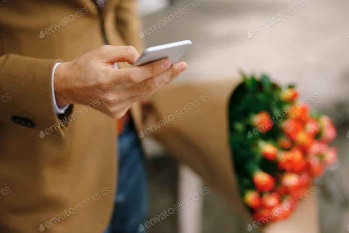 Man holding a phone in his hand