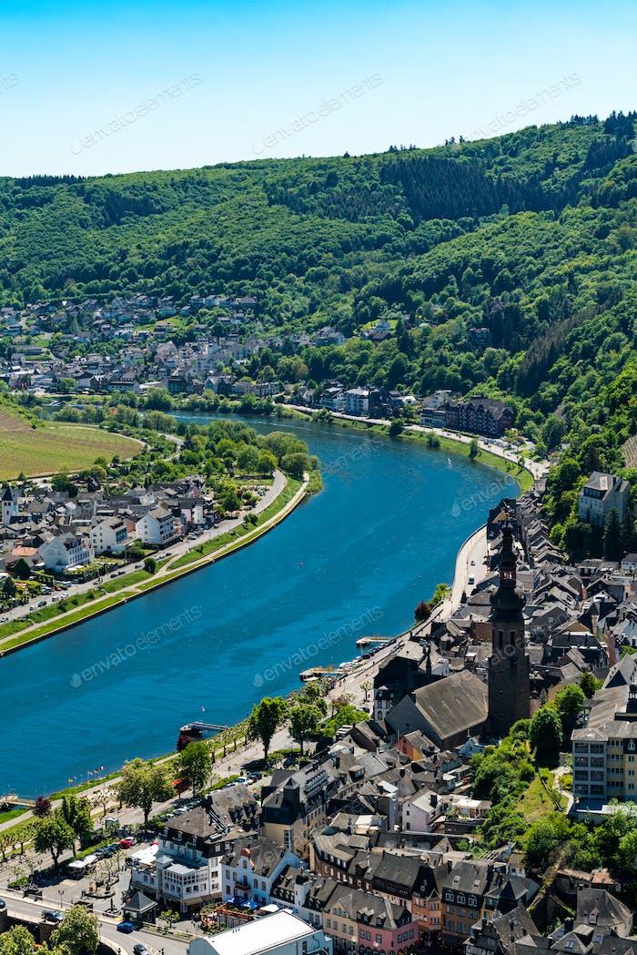 Stadtbild von Cochem, historische deutsche Stadt an der Mosel