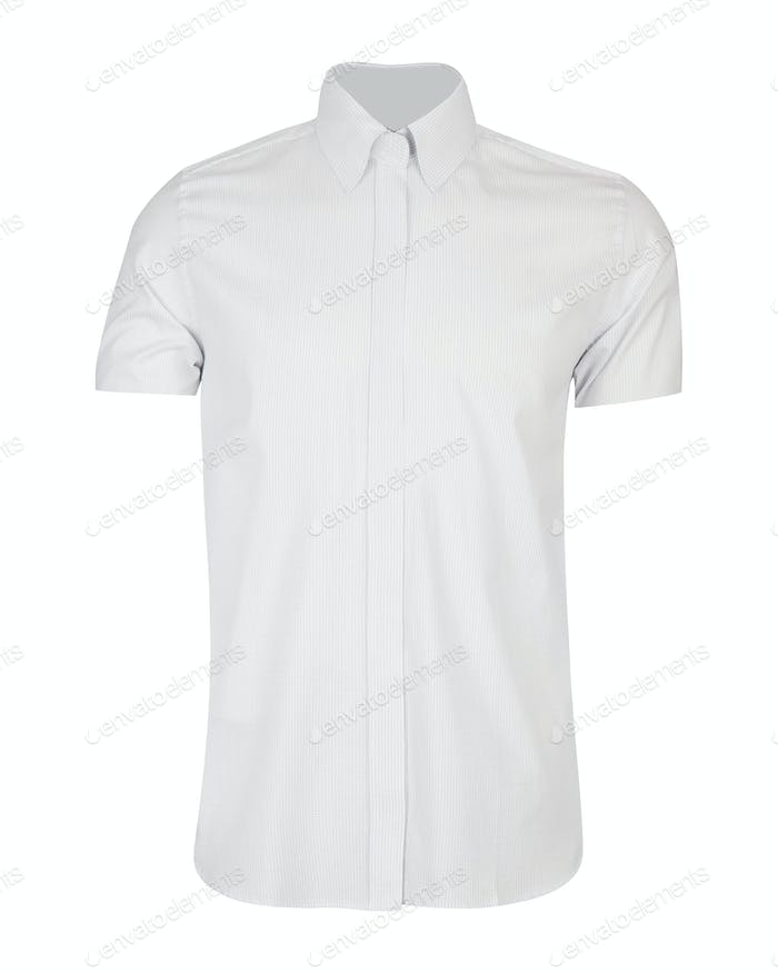 white shirt isolated on white