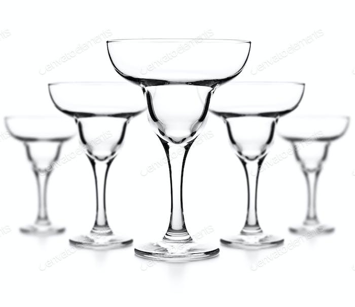 Empty glass of margarita