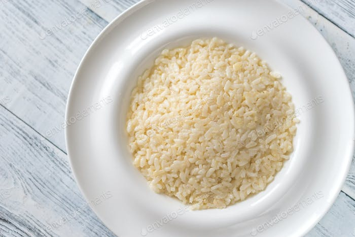 Portion of risotto