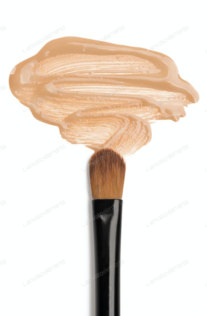 Foundation and make-up brush