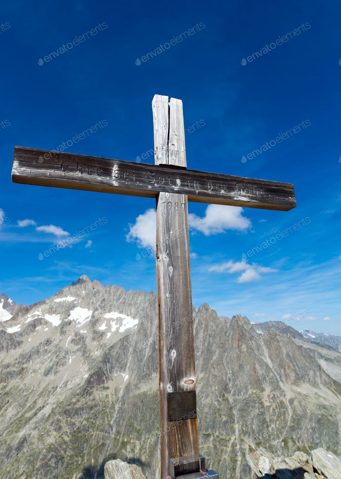 Summit cross in Switzerland