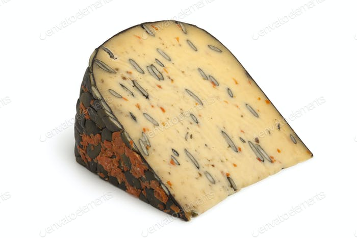 Dutch cheese with pumpkin seeds and carrot