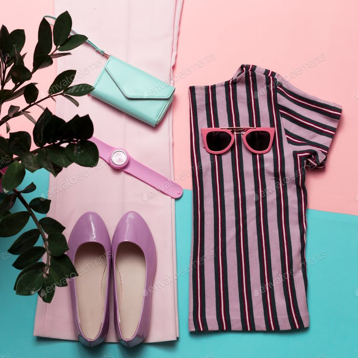 Stylish summer women's clothing and accessories. Trend Strip pri