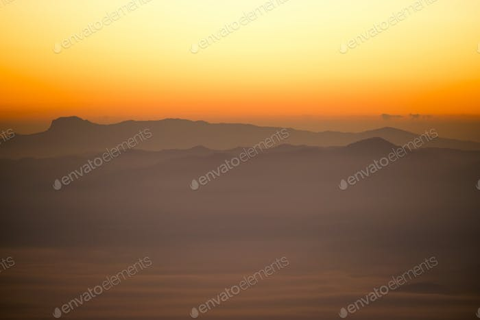 Ang Khang Mountains Thailand landscape with clouds sunrise beautiful view