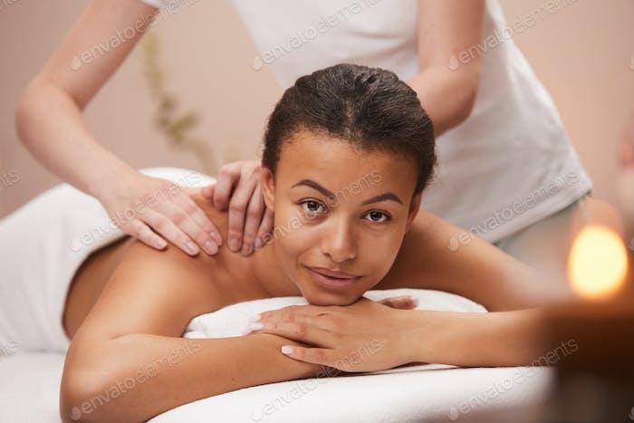 Beautiful Woman Enjoying Spa Therapy