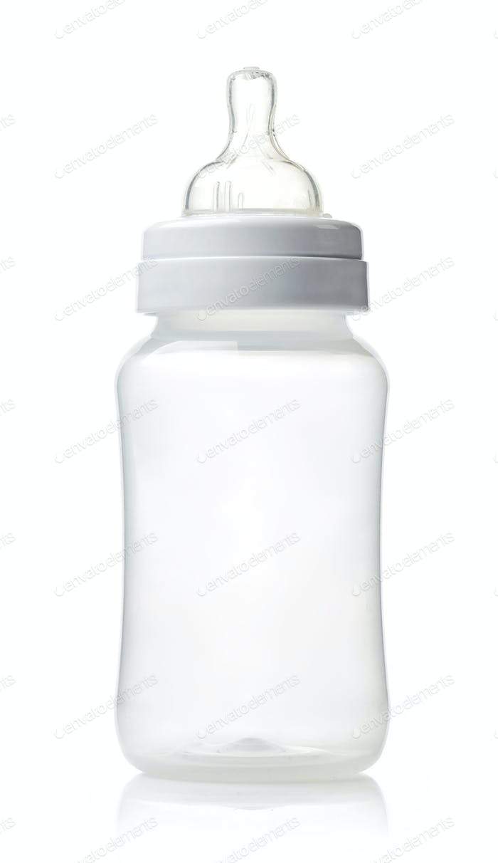 empty plastic baby bottle