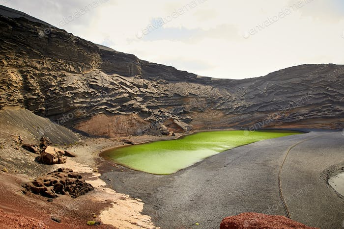 Grüner Vulkansee Charco de los Clicos auf Lanzarote